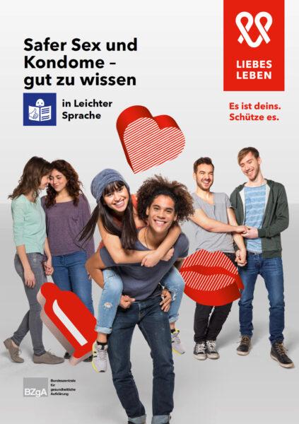 """Titelseite der Broschüre """"Safer Sex und Kondome - gut zu wissen"""""""