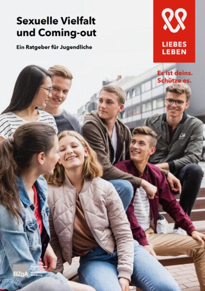 """Titelseite der Broschüre """"Sexuelle Vielfalt und Coming-out"""""""