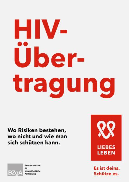 """Titelseite der Broschüre """"HIV-Übertragung"""""""