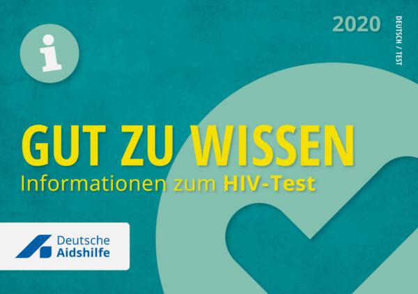 """Titelseite des Flyers """"Gut zu wissen - Informationen zum HIV-Test"""""""